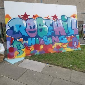 Spectrum Arts | Rosehill Housing Cooperative Graffiti Workshop